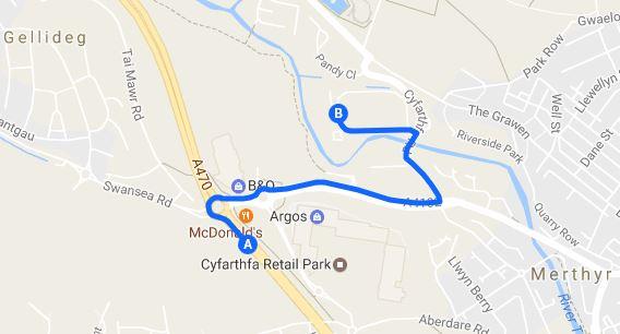 a470 directions Vertigo Trampoline Park