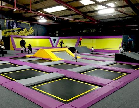 trampoline area